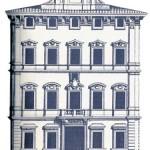 Palazzo Bonaparte - incisione facciata G.B. Falda